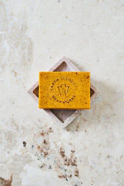 BERGAMOT + SWEET ORANGE WITH ANNATTO SOAP - Earth Elements Soapworks