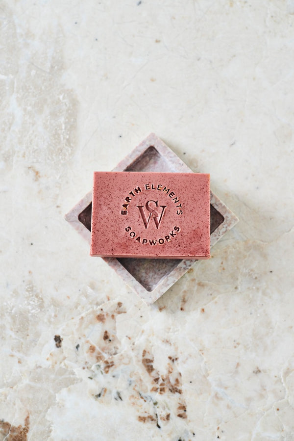 JUNIPER + GRAPEFRUIT WITH FRENCH ROSE CLAY SOAP - Earth Elements Soapworks