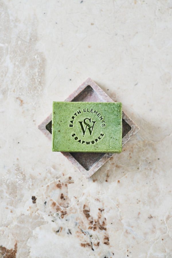 PEPPERMINT + EUCALYPTUS + ROSEMARY WITH SPIRULINA SOAP