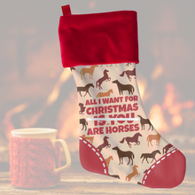 🐎  Horse Sense All I Want for Christmas Stocking  🐎