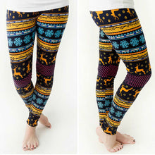 Beach Bum Women's Skinny Leggings Christmas Elk Print