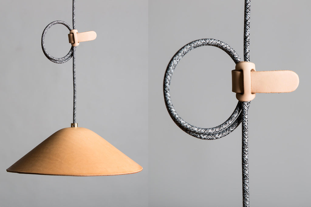 IE Francis Leather Pendant Lighting - Natural
