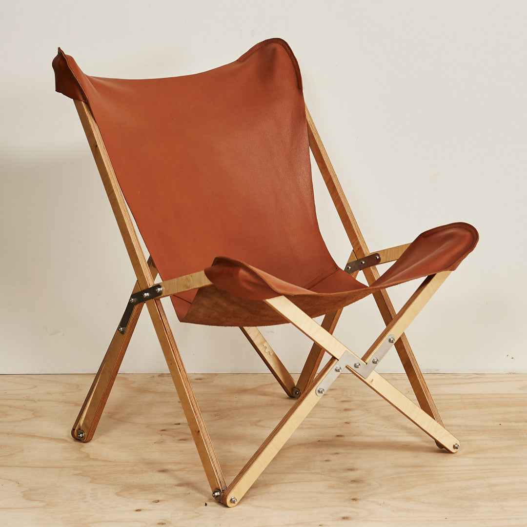 Superbe Campaign Chair   Tan