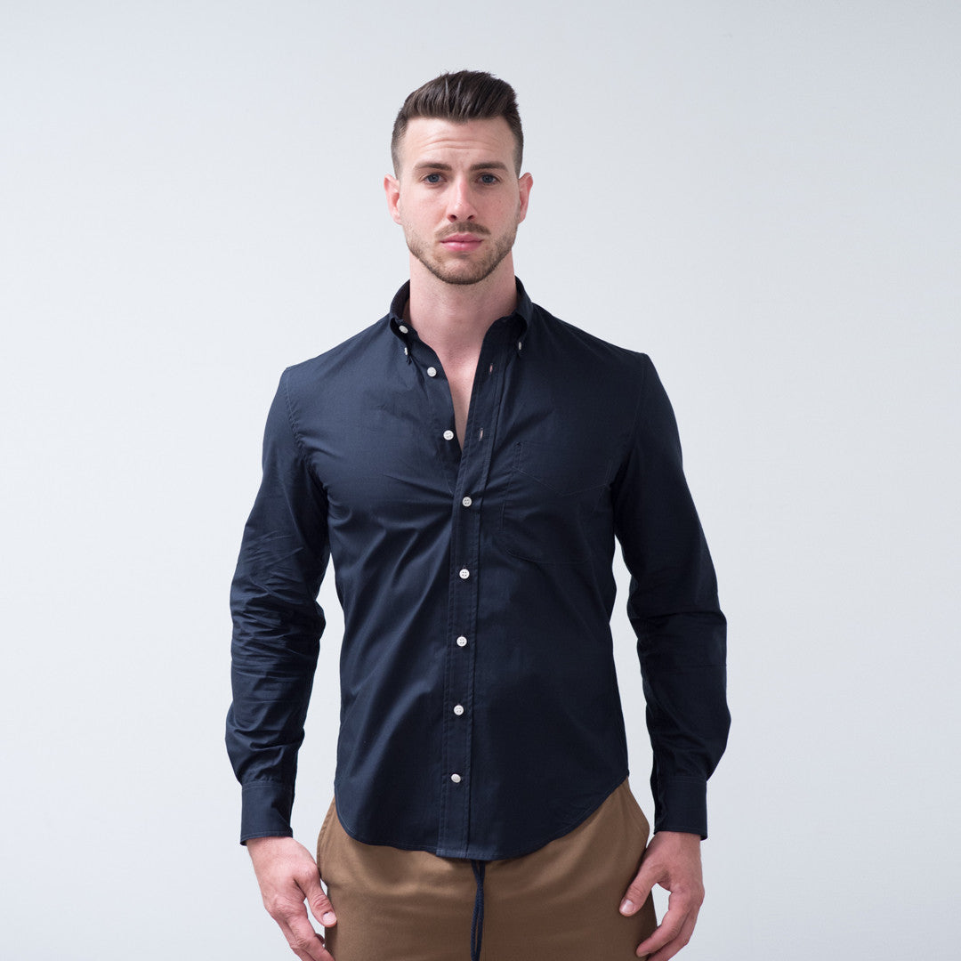 WSw Everyday Shirt Ink Blue Cotton