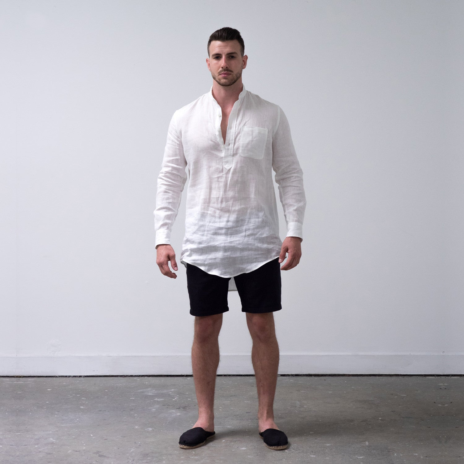 WSw Off-duty Shirt L/S White Linen