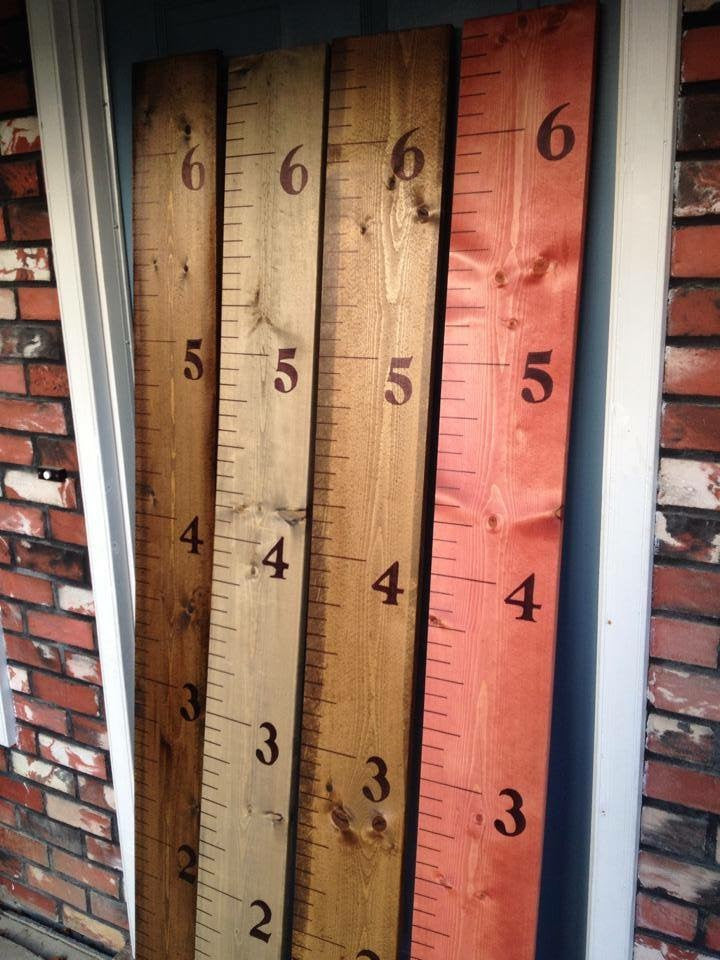 Wooden Growth Chart Rulers Shuswap Decor