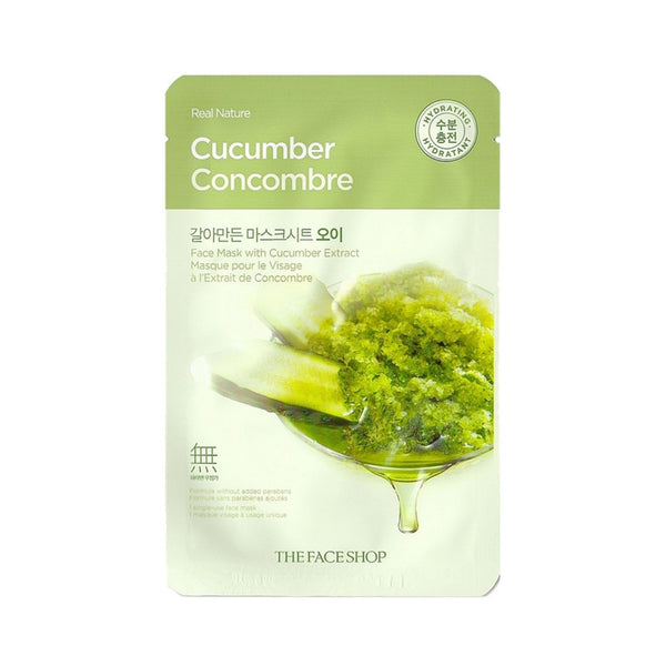 [The face shop] Natural Mask - Cucumber 20ml