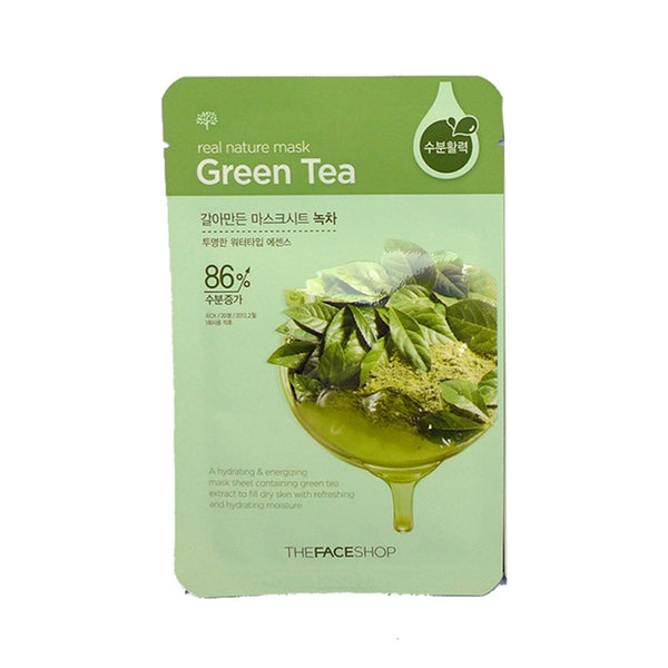 [The face shop] Natural Mask - Greentea 20ml