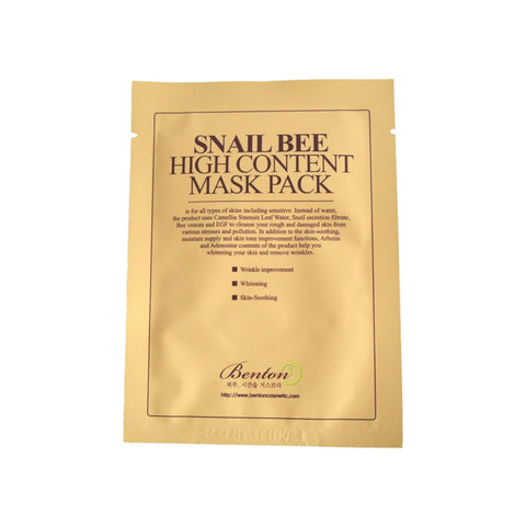[Benton] SNAIL BEE HIGH CONTENT MASK PACK 20g