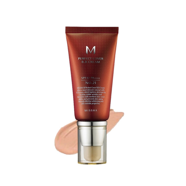 [Missha] M Perfect Covering BB Cream No.21 Light Beige 50ml