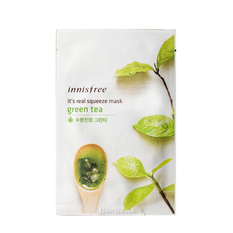 [Innisfree] It's Real Squeeze Mask Greentea 20ml