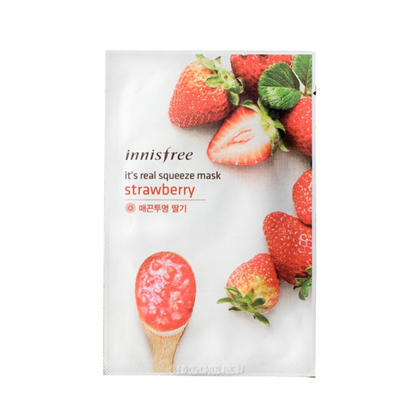 [Innisfree] It's Real Squeeze Mask Strawberry 20ml