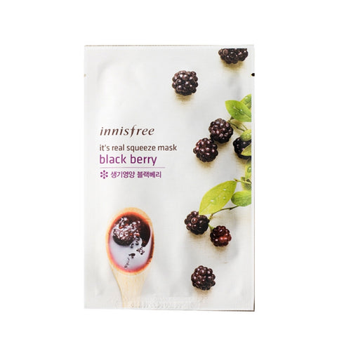 [Innisfree] It's Real Squeeze Mask Blackberry 20ml