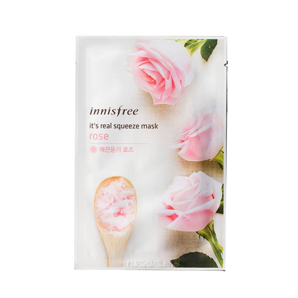 [Innisfree] It's Real Squeeze Mask Rose 20ml
