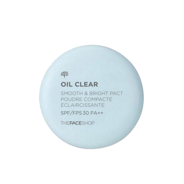 The Face Shop Oil Clear Smooth & Bright Pact Poudre Compacte Eclaircissante N203