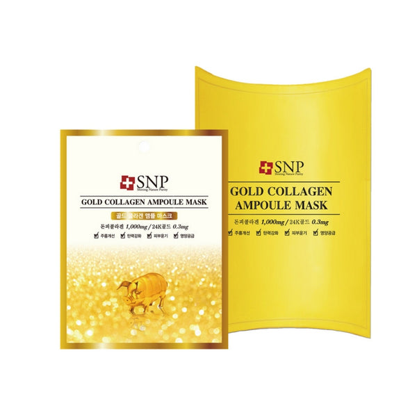 [SNP] Gold Collagen Ampoule Mask 25ml