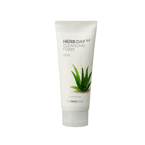[The face shop] Herb365 Cleansing Foam Aloe