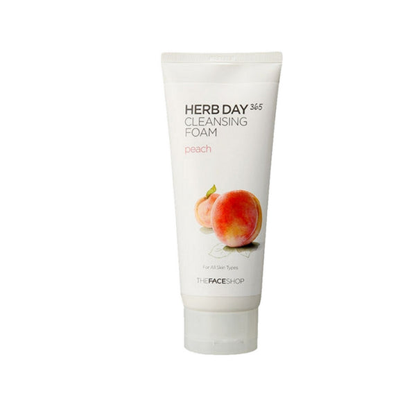 [The face shop] Herb365 Cleansing Foam Peach 170ml
