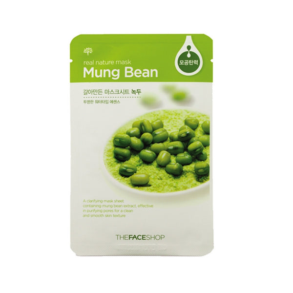 [The face shop] Natural Mask - Mungbeans 20ml