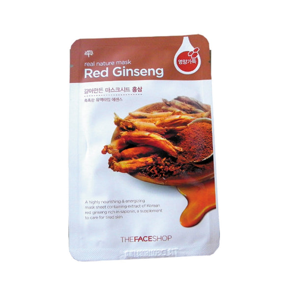 [The face shop] Natural Mask Red Ginseng 20ml