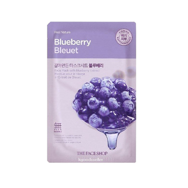 [The face shop] Natural Mask - Blueberry 20ml