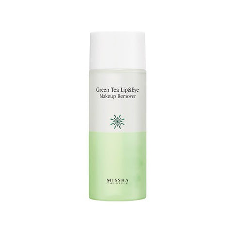 [Missha] Green Tea Lip & Eye Make Up Remover