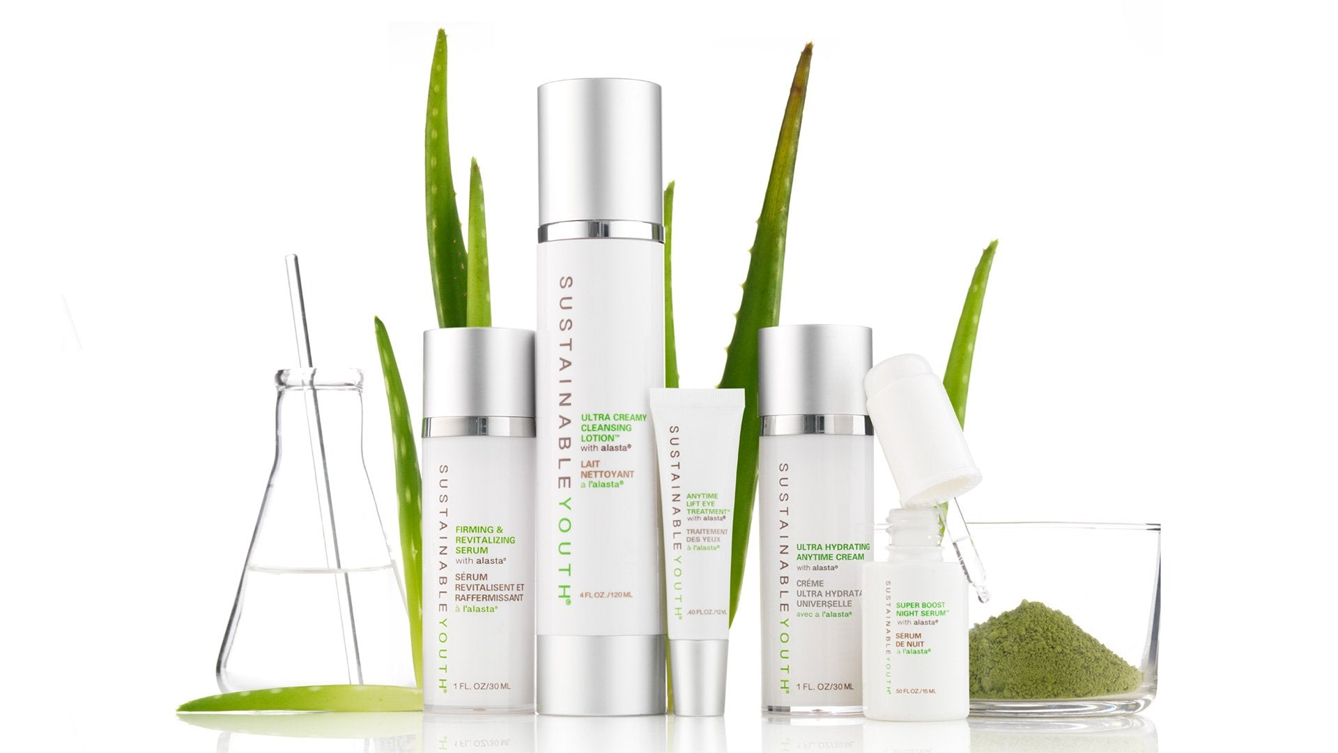 Proven, natural anti-aging skincare<br>years in the making