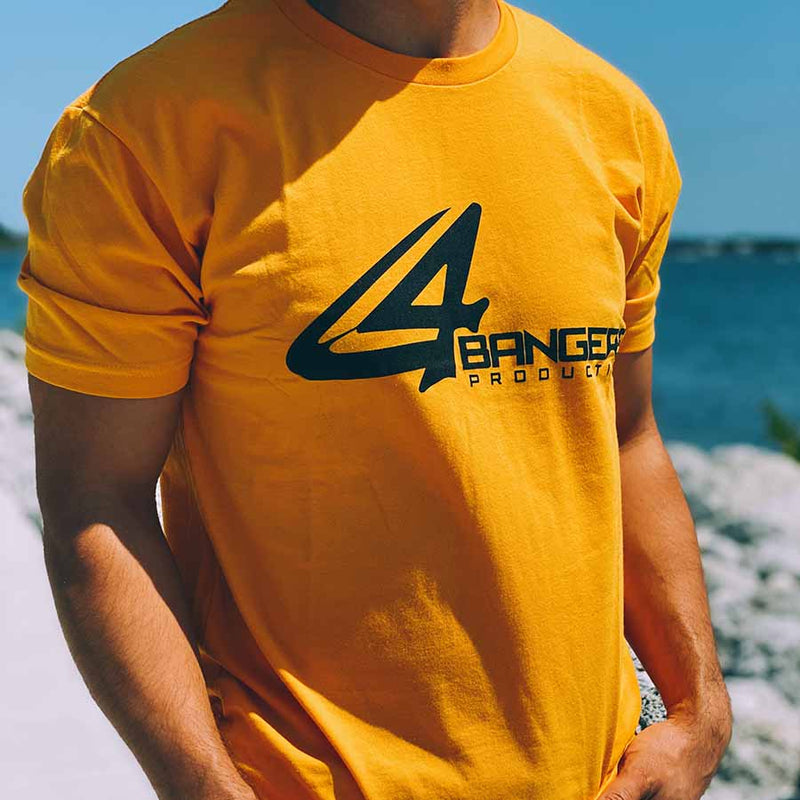 4BP Logo T-Shirt - Gold