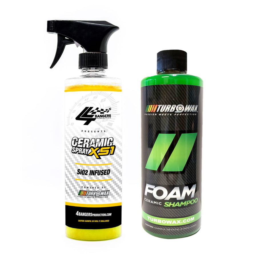 Ceramic Combo - Ceramic Spray & FOAM Shampoo 16oz -  XS Detailing Products