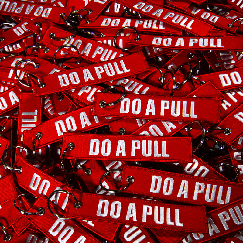 CLASSIC DO A PULL Race Keychain - Red (Limited Amount)