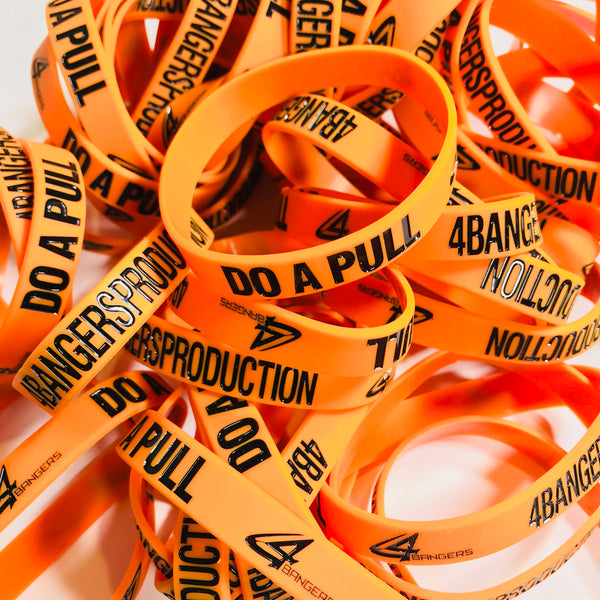 4BP x DO A PULL Wristband - Orange