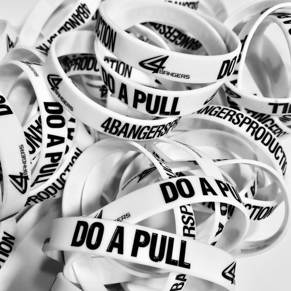 4BP x DO A PULL Wristband - White