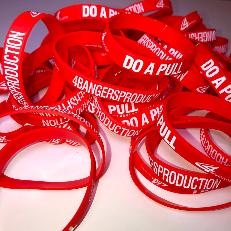 4BP x DO A PULL Wristband - Red