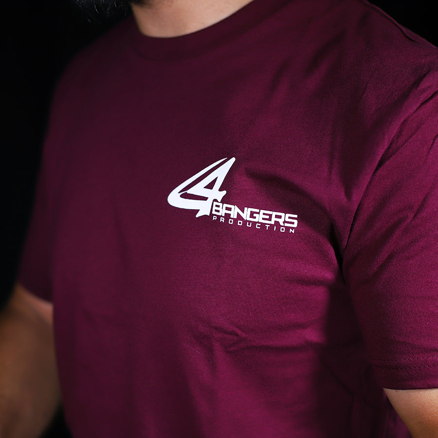 4Bangers Classic Polo Style T-Shirt - Maroon