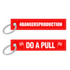 DO A PULL Race Keychain - Red/White