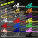 "4BangersProduction Original 8"" Stickers (20 colors)"