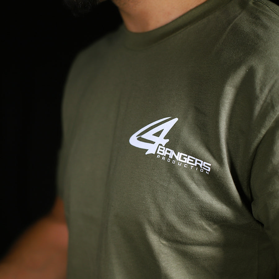 4Bangers Classic Polo Style T-Shirt - Military Green