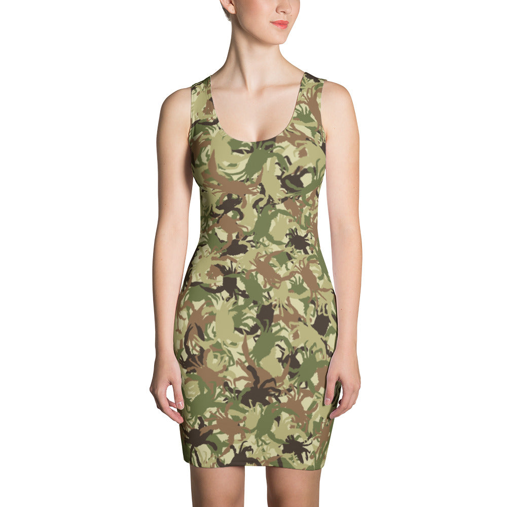 Green Crab Camo Dress