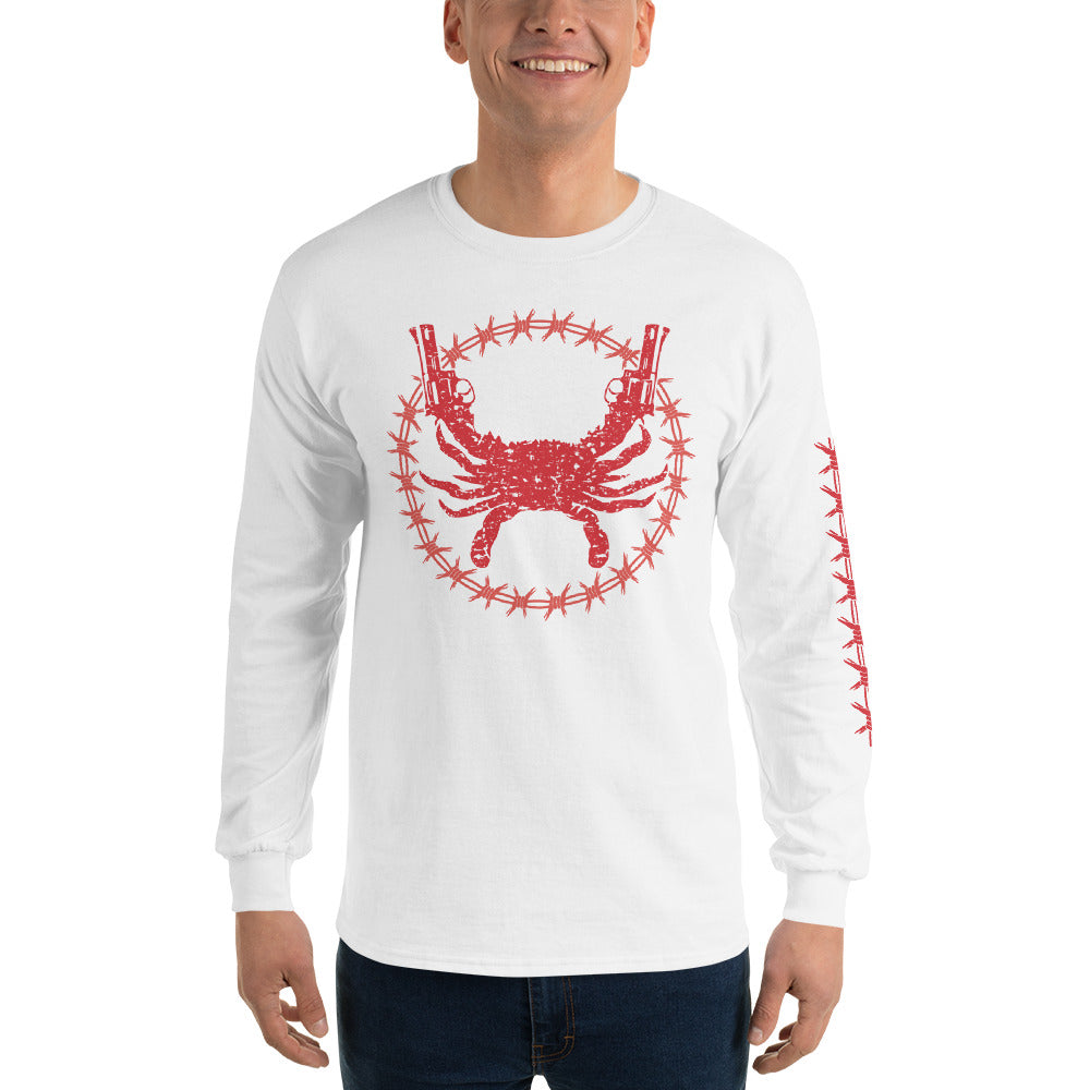 Protect Then Sleeve(Red Ink) Long Sleeve Shirt