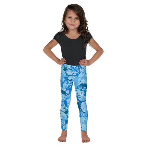Kid's Blue Crab Camo Leggings