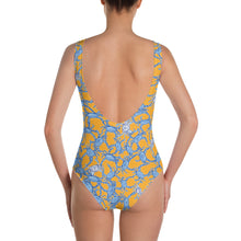 Bushel of Crabs One-Piece Swimsuit in Orange