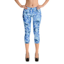 Blue Crab Camo Capri Leggings