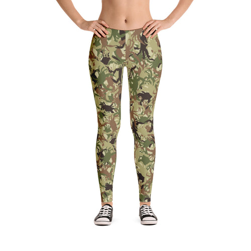 Green Crab Camo Leggings