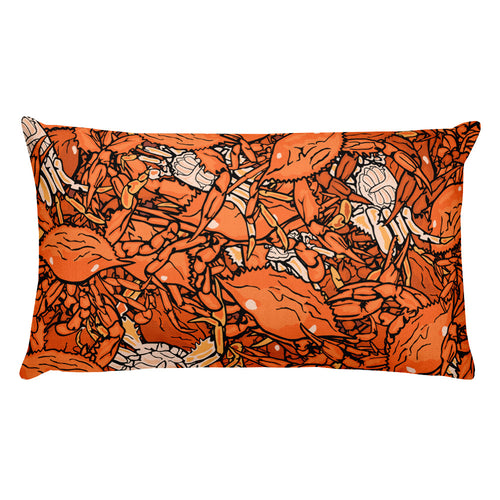 Steamed Crabs Rectangular Pillow