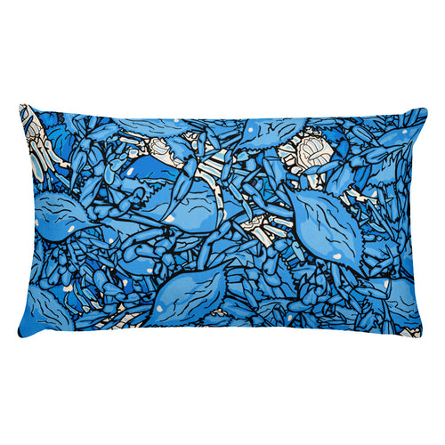 Live Crabs Rectangular Pillow