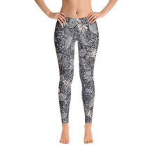 Live Crab Leggings in Black and White