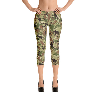 Crab Camo Capri Leggings