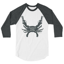 Protect Then Serve 3/4-Sleeve Tee - Charcoal Grey on White