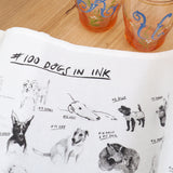 100 Dogs Tea Towel