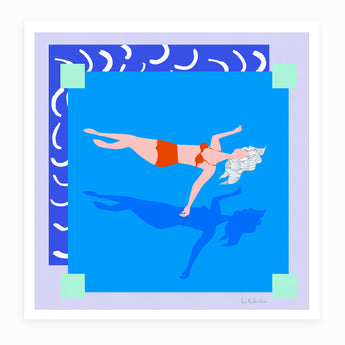 Pop up Pool. Giclée Fine Art Print.